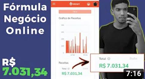 Gabriel Ferreira (aluno do Fórmula Negócio Online faturou R$ 7.031,34 aplicando a metodologia)